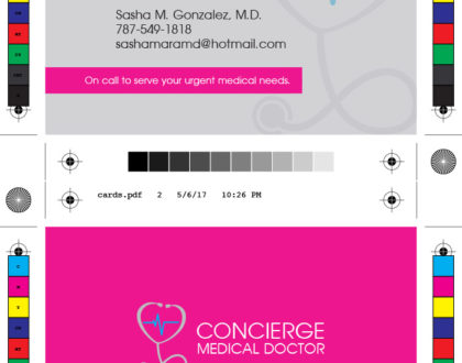 Concierge Medical Doctor Business Cards and Logo