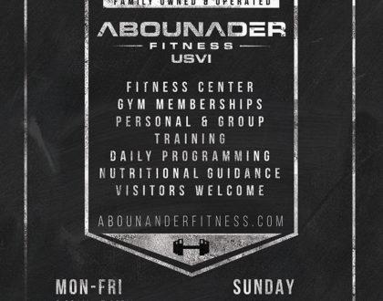 Design for Abounader Fitness St. Thomas