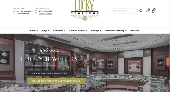 Lucky Jewelers Website