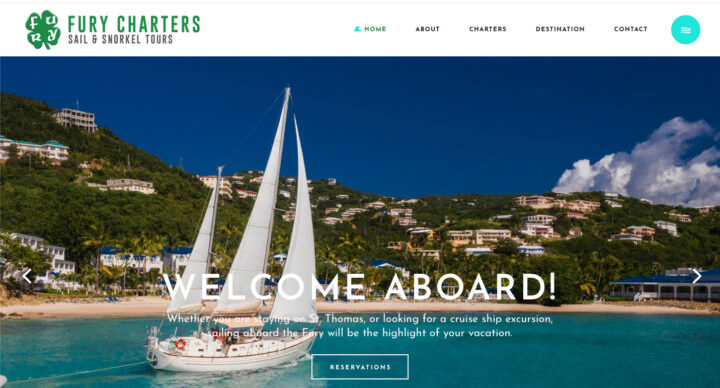 Fury Charters Website