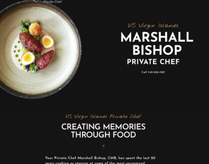 Private Chef Website - Marshall Bishop