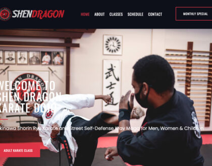 Shen Dragon Karate Dojo Website